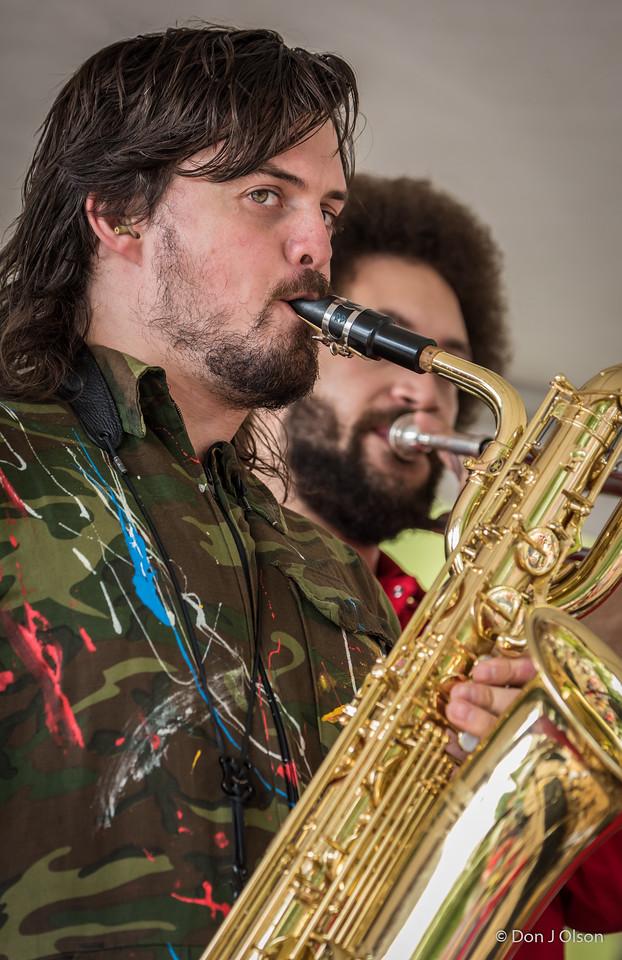 Black Market Brass--2017 Rock Bend Folk Festival-St. Peter, MN.