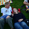 "Adrian Kearney sits on the grass with his girlfriend Lu Cordova as Euforquestra performs at Boulder's Bands on the Bricks at Pearl Street Mall on Wednesday.<br /> More photos:  <a href=""http://www.dailycamera.com"">http://www.dailycamera.com</a><br /> Autumn Parry/Staff Photographer<br /> June 1, 2016"