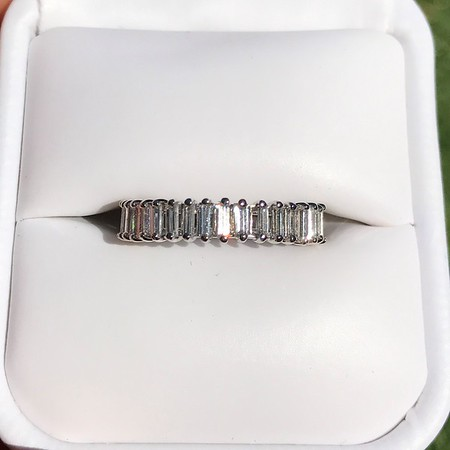 baguette band antique diamond listings and round ring bands platinum size dot eternity