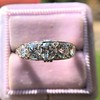 1.70ctw Edwardian 5-stone Old European Cut Diamond Band 5