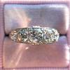 1.70ctw Edwardian 5-stone Old European Cut Diamond Band 10