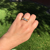 1.85ctw Vintage Emerald Cut Diamond Band 10