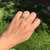 1.85ctw Vintage Emerald Cut Diamond Band 8