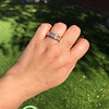 1.85ctw Vintage Emerald Cut Diamond Band 9