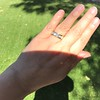 1.85ctw Vintage Emerald Cut Diamond Band 7