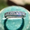 2.50ctw Vintage French Cut Diamond Eternity Band 0