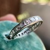 2.50ctw Vintage French Cut Diamond Eternity Band 8