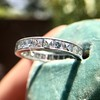 2.50ctw Vintage French Cut Diamond Eternity Band 15