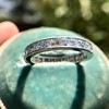 2.50ctw Vintage French Cut Diamond Eternity Band 14