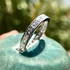 2.50ctw Vintage French Cut Diamond Eternity Band 16