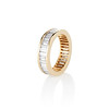 2.60ctw Baguette Cut Diamond Eternity Band, in 18kt Yellow Gold 1