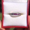 2.80ctw Rainbow Effect Channel Wedding Ring 14