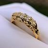 0.48ctw Antique Old European Cut 5-Stone ring 4