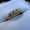 0.48ctw Antique Old European Cut 5-Stone ring 56