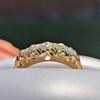 0.48ctw Antique Old European Cut 5-Stone ring 1