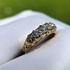 0.48ctw Antique Old European Cut 5-Stone ring 52