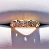 0.48ctw Antique Old European Cut 5-Stone ring 0