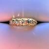 0.48ctw Antique Old European Cut 5-Stone ring 57