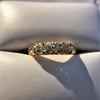 0.48ctw Antique Old European Cut 5-Stone ring 7
