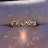 0.48ctw Vintage Transitional Cut Diamond 5-stone Band 10