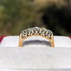 0.48ctw Vintage Transitional Cut Diamond 5-stone Band 5