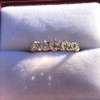 0.48ctw Vintage Transitional Cut Diamond 5-stone Band 1