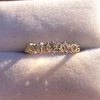 0.48ctw Vintage Transitional Cut Diamond 5-stone Band 11