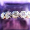1.37ctw Platinum and Diamond 5-stone Band 11