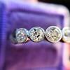 1.37ctw Platinum and Diamond 5-stone Band 16