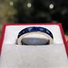 6.15ctw Natural Sapphire Vintage Eternity Band 11