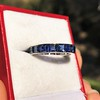 6.15ctw Natural Sapphire Vintage Eternity Band 6