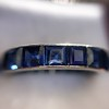6.15ctw Natural Sapphire Vintage Eternity Band 12