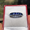 6.15ctw Natural Sapphire Vintage Eternity Band 5