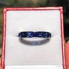 6.15ctw Natural Sapphire Vintage Eternity Band 4