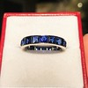 6.15ctw Natural Sapphire Vintage Eternity Band 10