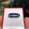 6.15ctw Natural Sapphire Vintage Eternity Band 8