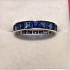 6.15ctw Natural Sapphire Vintage Eternity Band 0
