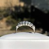 0.65ctw Vintage Single Cut Diamond Double Row Band