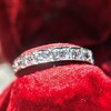 .95ctw Art Deco French Cut Eternity Band 4
