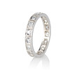 .95ctw Art Deco French Cut Eternity Band 1