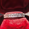 .95ctw Art Deco French Cut Eternity Band 7