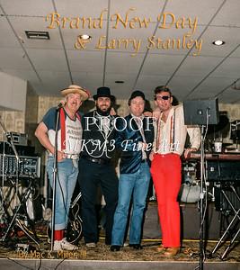 """This image from a book of photographs of the Larry Stanley Band which was called """"Brand New Day"""" dating from 1975 through 1986."""