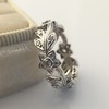 Kelege Floral Motif Eternity Band 8