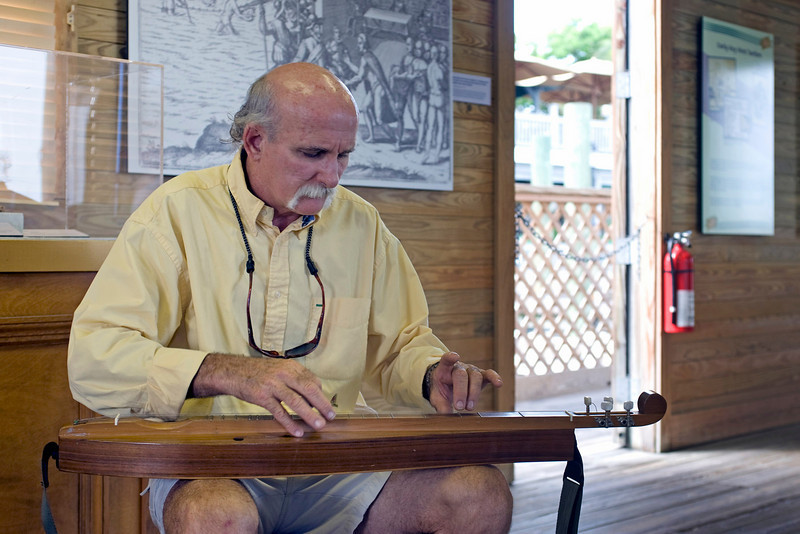 Rick, the dulcimer-playing (and singer) curator of the Key West Turtle Museum 7/23/10