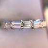 2.10ctw Platinum Baguette Eternity Wedding Band 23