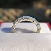 2.10ctw Platinum Baguette Eternity Wedding Band 18