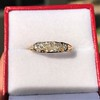 0.69ctw Victorian 5-stone Scroll Band 12