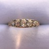 0.69ctw Victorian 5-stone Scroll Band 9