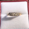 0.69ctw Victorian 5-stone Scroll Band 4