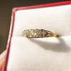 0.69ctw Victorian 5-stone Scroll Band 10